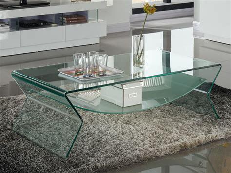 lade da salotto moderne table basse plateau verre tremp 233