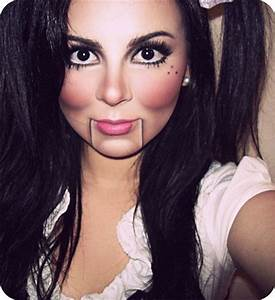 Halloween Make Up Puppe : 10 simple easy halloween face makeup ideas for girls 2016 modern fashion blog ~ Frokenaadalensverden.com Haus und Dekorationen