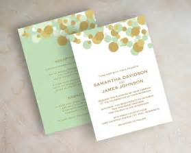 mint wedding invitations mint green and gold polka dot wedding invitations by appleberryink