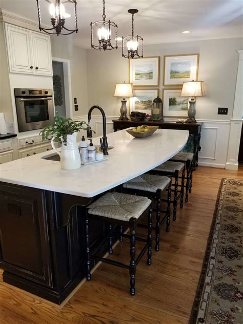 simple kitchen island countertop change  totally