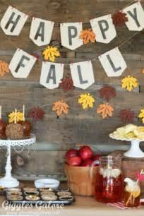 Fall Harvest Caramel Apple Bar