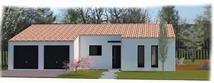 maison traditionnelle plain pied avec toit tuiles et un With casquette de porte d entrée