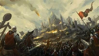 Siege Castle Medieval Fantasy Battle Knight Army