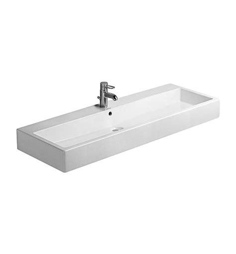 duravit vero basin no tap duravit vero white 1200 x 470mm 1 tap basin 0454120000