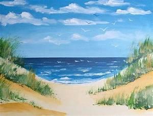 Strandbilder Auf Leinwand : malen fast ohne pinsel malen mit acrylfarbe malen malen mit acrylfarben acryl malen und ~ Watch28wear.com Haus und Dekorationen