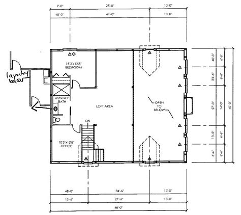 floor plan  houses morton building homes