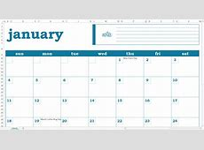 Blank Monthly Calendar Excel Template Savvy Spreadsheets