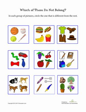 picture categorization speechies preschool worksheets