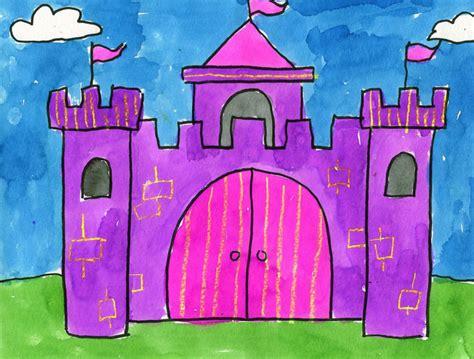 paint  watercolor castle art projects  kids