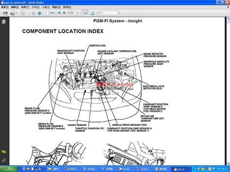 honda insight  workshop manual auto repair manual