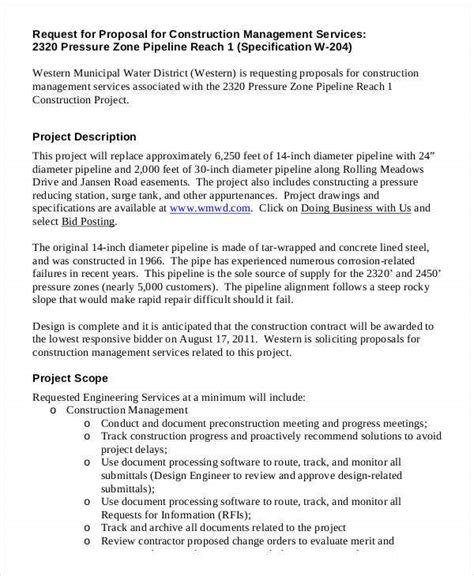 construction business proposal templates   word