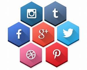 SocioHexs: 40 Free Hexagonal Social Media Icons on Behance