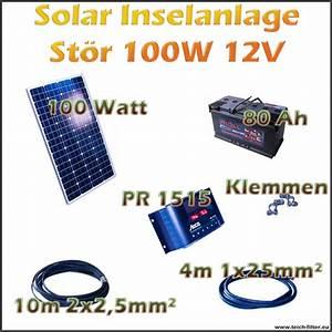 Solar Inselanlage Berechnen : 100w 12v solar inselanlage st r f r garten und wohnwagen ~ Themetempest.com Abrechnung