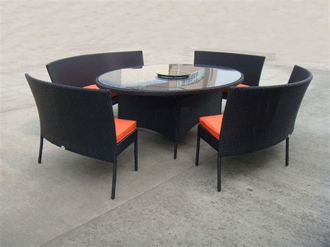 outdoor table and chairs set rattan garden dining sets with bench patio table and