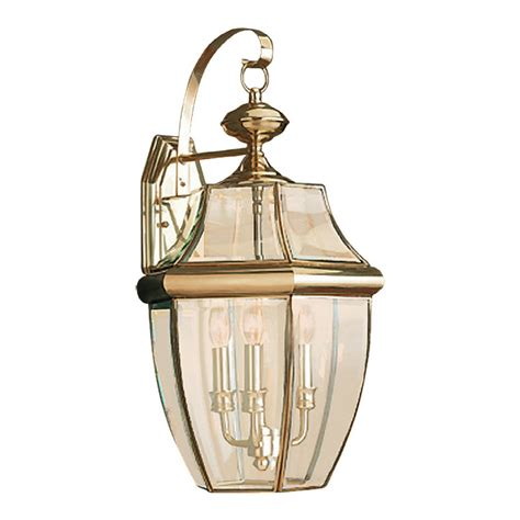 shop sea gull lighting 23 in h polished brass outdoor wall
