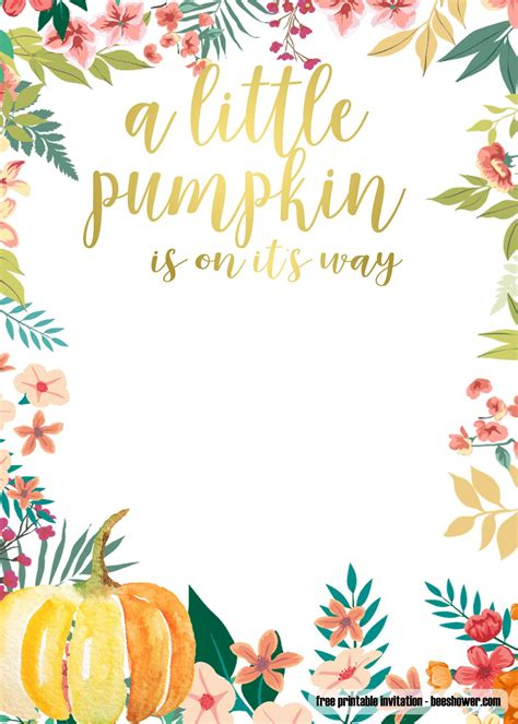 printable fall baby shower invitations templates