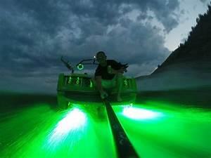 Green Gt2 Led Boat Drain Plug Light 1200 Lumen Underwater