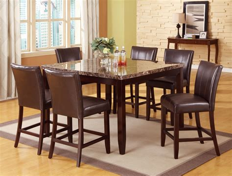7 piece pub table set crown mark ferrara 7 piece pub table and counter height
