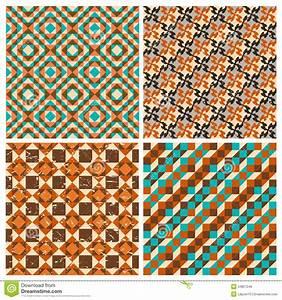 Set Of Seamless Geometric Retro Patterns Stock Vector ...