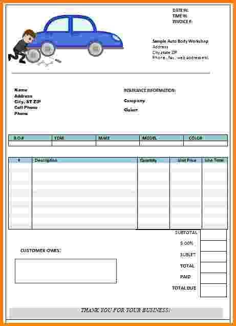sample auto repair invoice apcc
