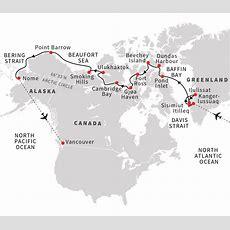 Cruise Through The Northwest Passage From Greenland To Alaska  Hurtigruten Uk