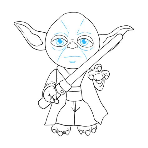 How to Draw Yoda from Star Wars - Really Easy Drawing Tutorial