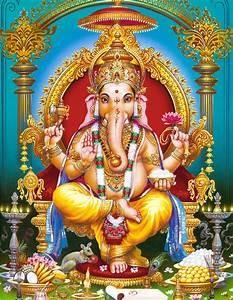 Ganesha Sitting on a Throne