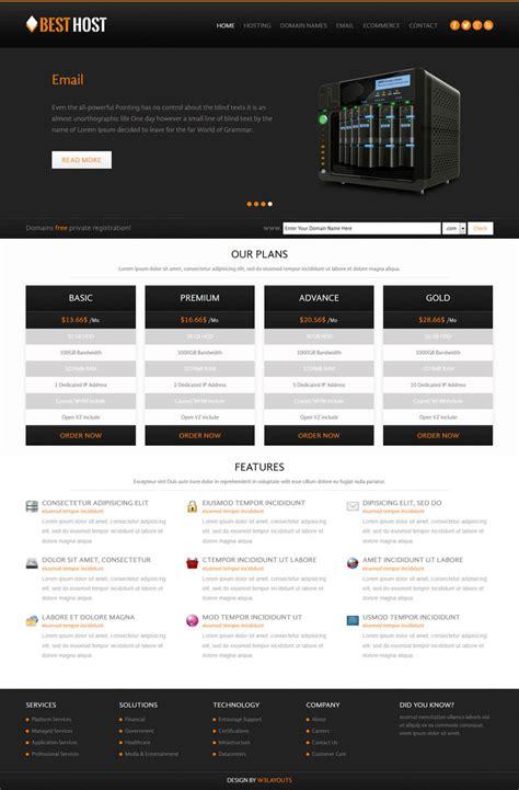 Free Hosting 6 Free Web Hosting Html Templates Designerslib