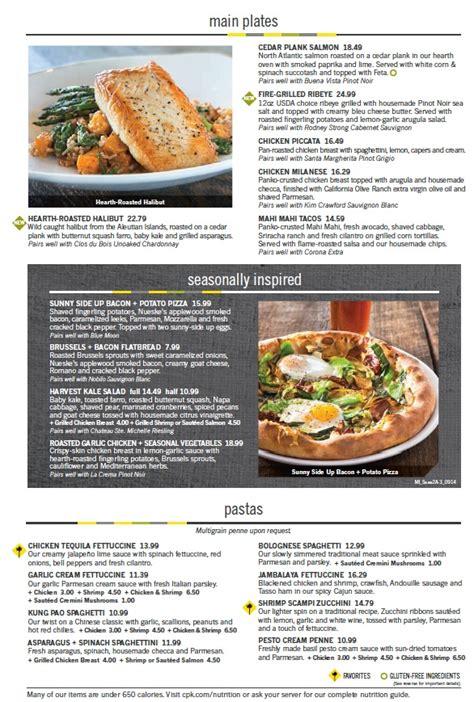 california pizza kitchen menu menu for california pizza kitchen 2301 n federal hwy fort