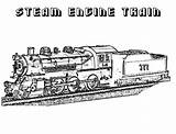 Steam Train Coloring Engine Railroad Colouring Locomotive Template Sheets Clrg sketch template