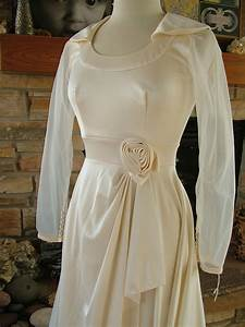vintage wedding dress 1970s high fashion ivory poly dream With 1970 s style wedding dresses