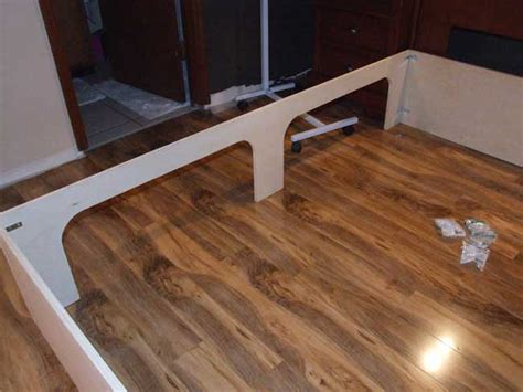 platform bed plans  drawers  woodworking