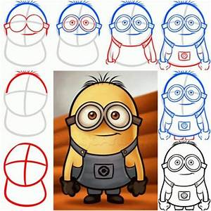 How To Draw a Minion from Despicable Me step by step DIY ...