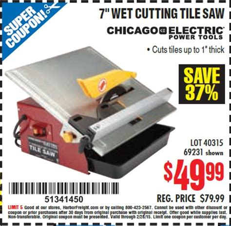 tile saw harbor freight harbor freight tools coupon database free coupons 25