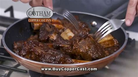 gotham steel copper cast pan tv commercial lighter  cast iron ispottv