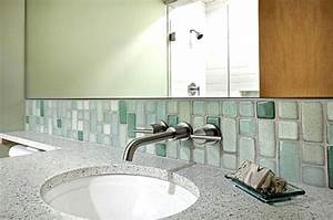 recycled glass tiles in a modern bathroom decoist With recycled glass tiles bathroom