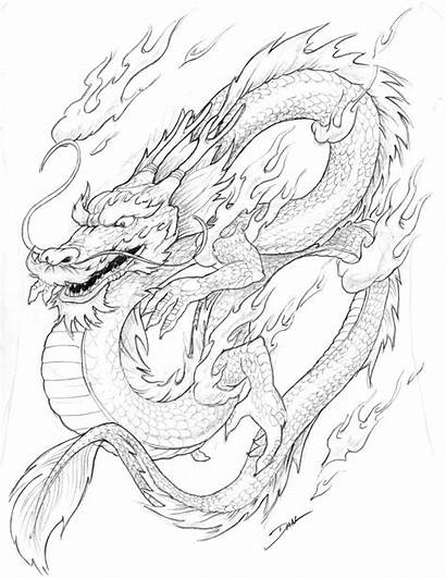 Dragon Chinese Coloring Pages Printable Adults