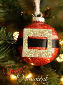 Easy Santa Christmas Ornament Craft