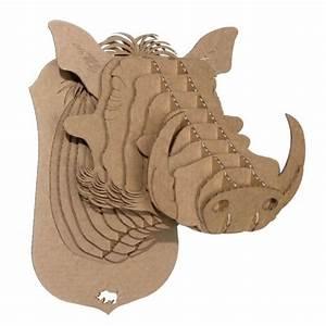 Trophée Animaux Carton : bucky m dium cerf troph e en carton cardboard safari troph es d 39 animaux en carton de ~ Melissatoandfro.com Idées de Décoration