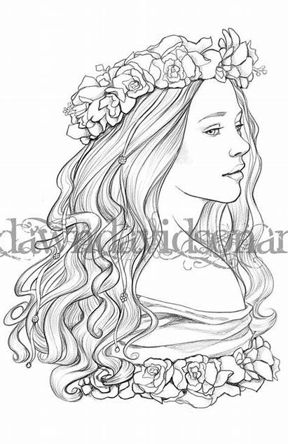 Coloring Adult Queen Grayscale Printable Colouring Grown