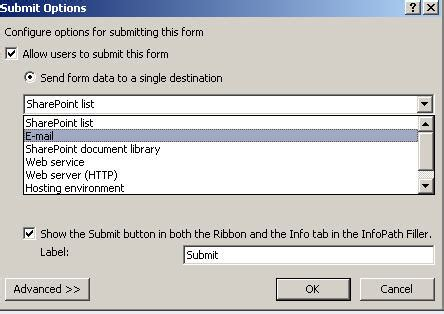 submit button on infopath sharepoint stack exchange