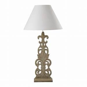 Lampe Aus Holz : lampe perrine aus holz mit lampenschirm aus baumwolle h 98 cm beige maisons du monde ~ Eleganceandgraceweddings.com Haus und Dekorationen