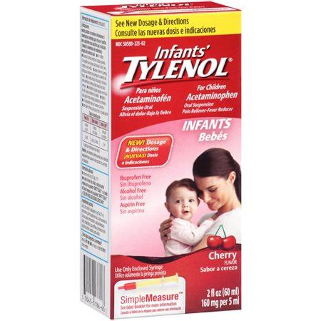 Baby Tylenol Infants Tylenol Cherry Flavor Oral Suspension Pain