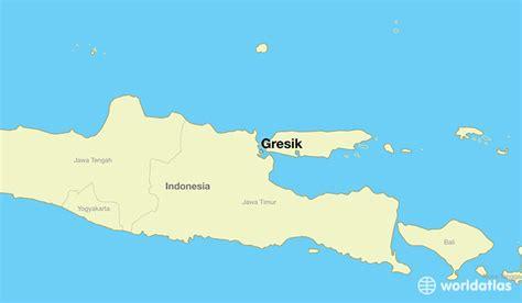 gresik indonesia gresik east java map