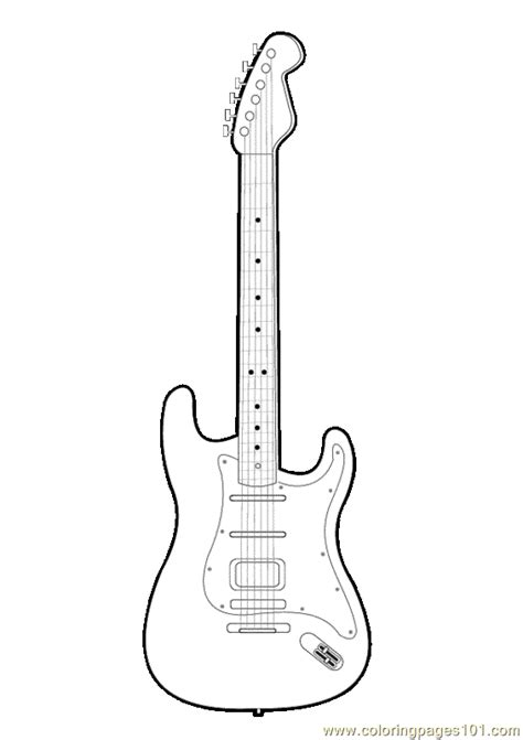 guitar coloring page   coloring pages coloringpagescom