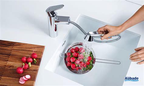 mitigeur cuisine grohe avec douchette robinet de cuisine avec douchette grohe eurodisc espace
