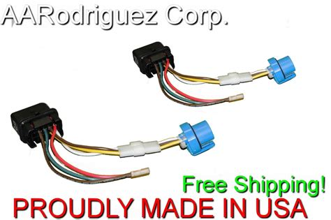 2 new complete headlight wiring harness 1999