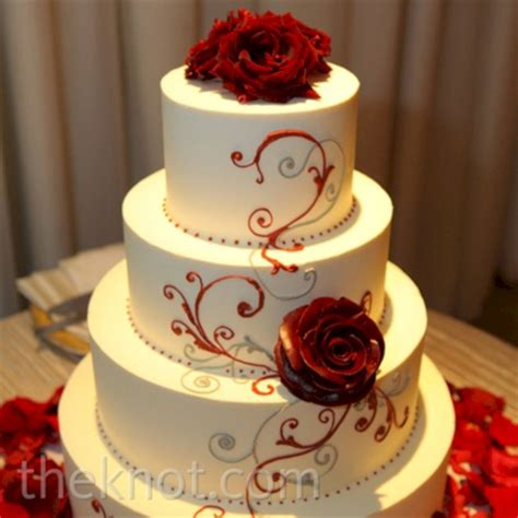 21 Red Black And White Wedding Cakes Vis Wed