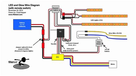 Rc Motor Wiring Diagram by Flite Test Led And Glow Wire Diagram Mov