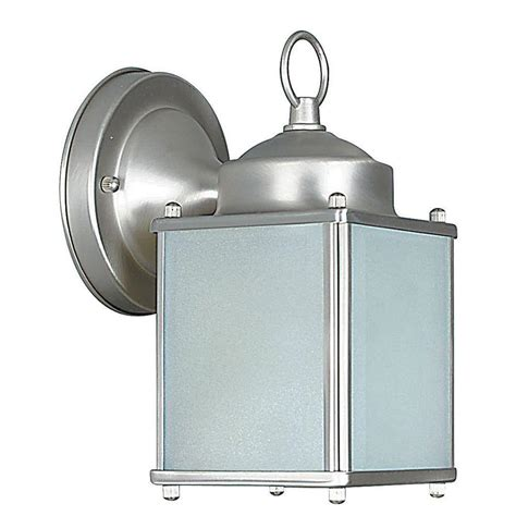 luminance 1 light satin nickel outdoor lantern f6841 53